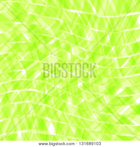 Abstract green distorted triangles background. Vector illustration