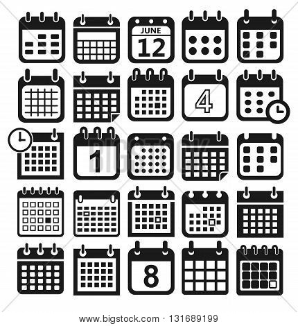 calendar icons for web design, calendar symbol, flat calendar, graphic element, web design, calendar sign, web icons, calendar set, icon set, calendar pictogram