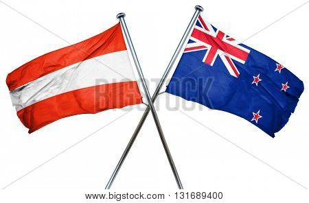 Austria flag  combined with new zealand flag