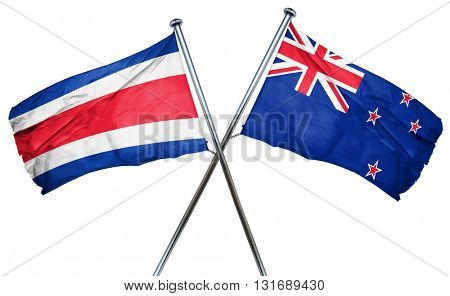 Costa Rica flag  combined with new zealand flag