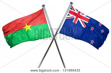 Burkina Faso flag  combined with new zealand flag