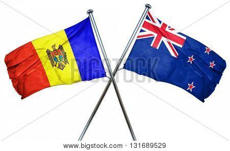 Moldova flag  combined with new zealand flag