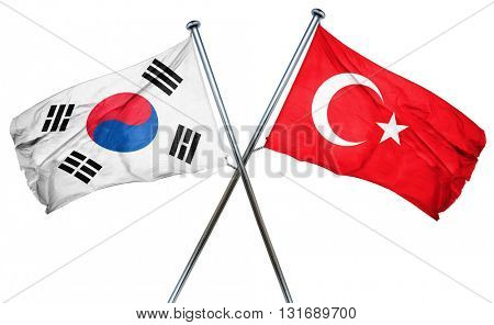 South korea flag  combined with turkey flag