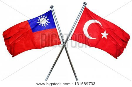Republic of china flag  combined with turkey flag