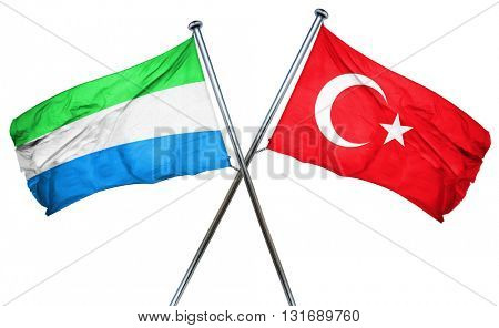 Sierra Leone flag  combined with turkey flag