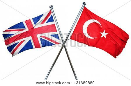 Great britain flag  combined with turkey flag