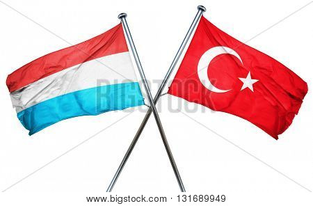 Luxembourg flag  combined with turkey flag