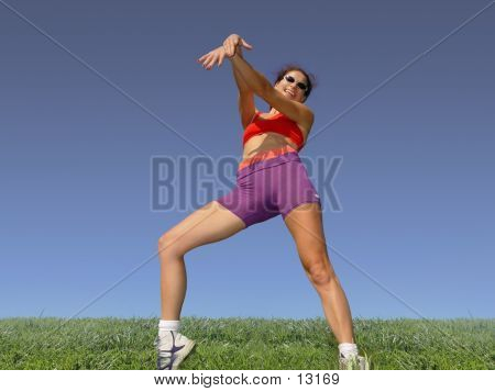 Girl Exercising Outdoors