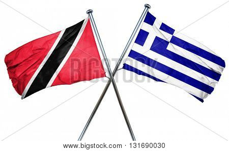 Trinidad and tobago flag  combined with greek flag