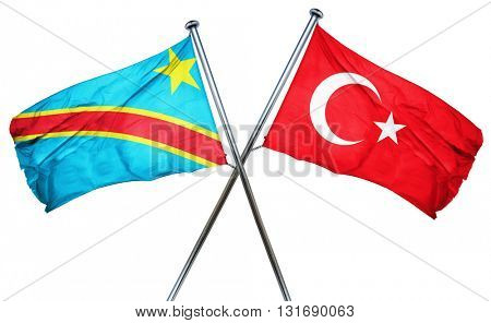 Democratic republic of the congo flag  combined with turkey flag