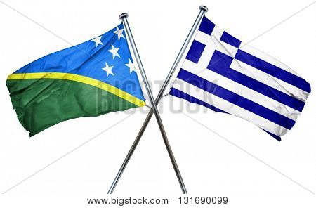 Solomon islands flag  combined with greek flag