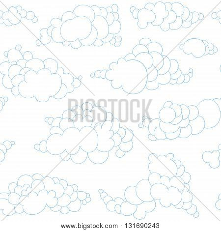 Hand  Drawn Clouds Pattern
