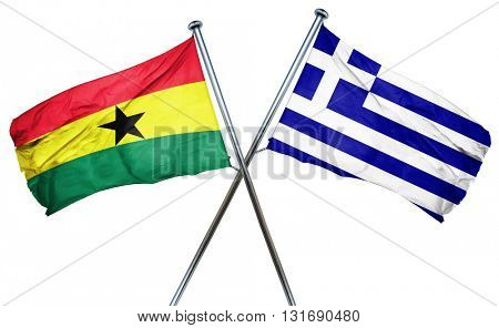 Ghana flag  combined with greek flag