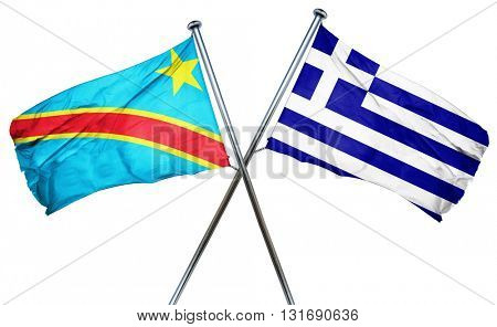 Democratic republic of the congo flag  combined with greek flag