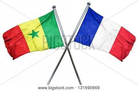 Senegal flag  combined with france flag