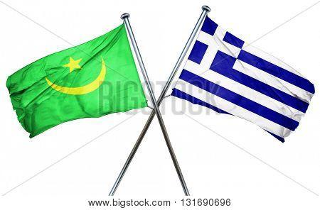 Mauritania flag  combined with greek flag