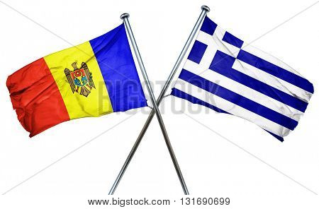 Moldova flag  combined with greek flag