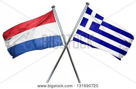 Netherlands flag  combined with greek flag