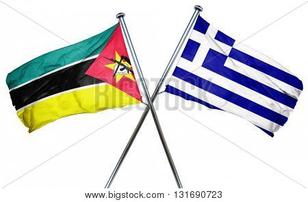 Mozambique flag  combined with greek flag