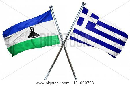 Lesotho flag  combined with greek flag