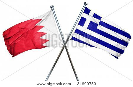 Bahrain flag  combined with greek flag