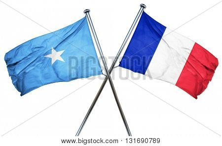 Somalia flag  combined with france flag