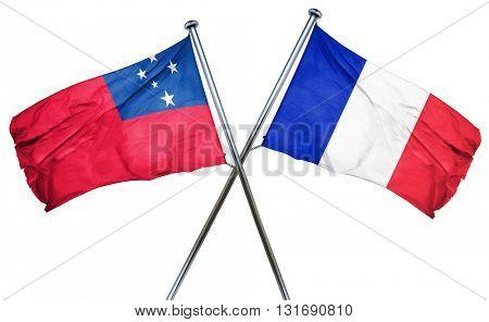 Samoa flag  combined with france flag