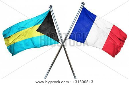 Bahamas flag  combined with france flag
