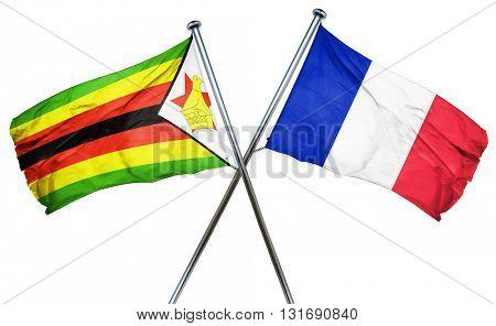 Zimbabwe flag  combined with france flag