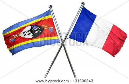 Swaziland flag  combined with france flag