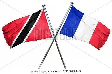 Trinidad and tobago flag  combined with france flag
