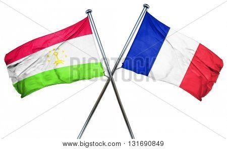 Tajikistan flag  combined with france flag