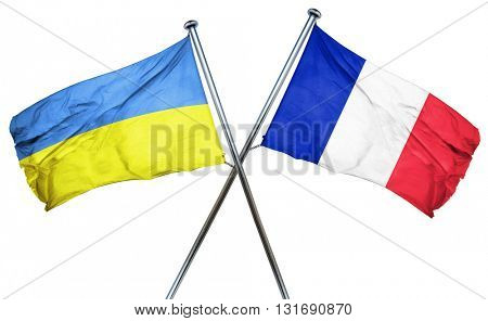 Ukraine flag  combined with france flag