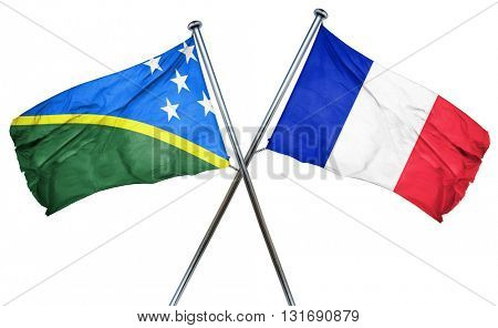 Solomon islands flag  combined with france flag