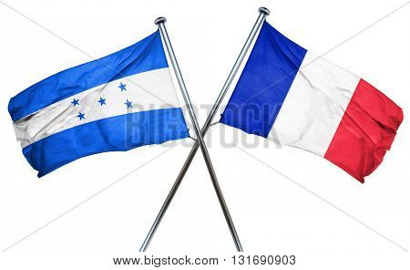 Honduras flag  combined with france flag