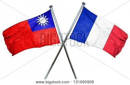 Republic of china flag  combined with france flag