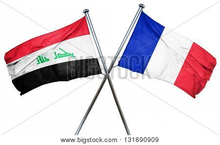 Iraq flag  combined with france flag
