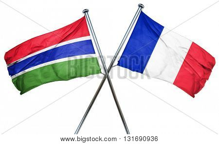 Gambia flag  combined with france flag