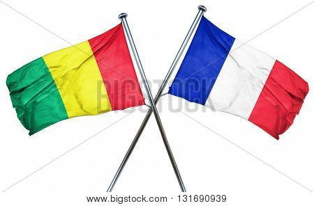 Guinea flag  combined with france flag