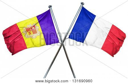 Andorra flag  combined with france flag