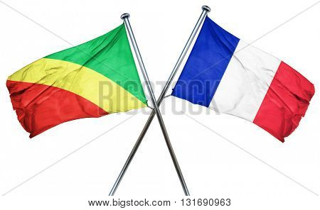 Congo flag  combined with france flag
