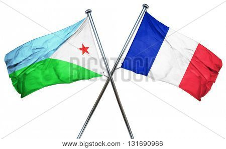 Djibouti flag  combined with france flag