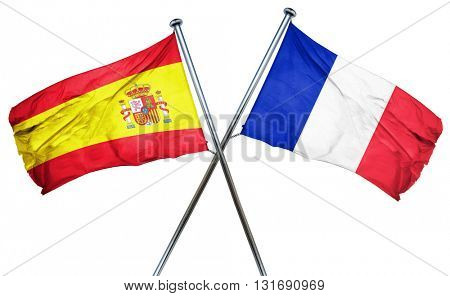 Spanish flag  combined with france flag