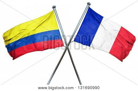 Colombia flag  combined with france flag