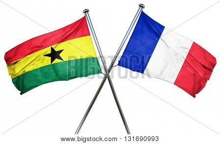 Ghana flag  combined with france flag
