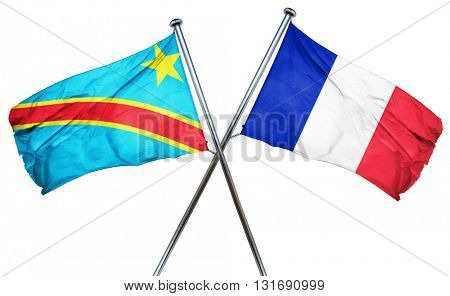 Democratic republic of the congo flag  combined with france flag
