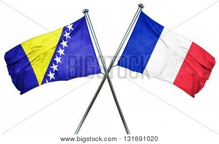 Bosnia and Herzegovina flag  combined with france flag