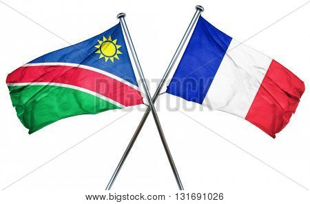 Namibia flag  combined with france flag