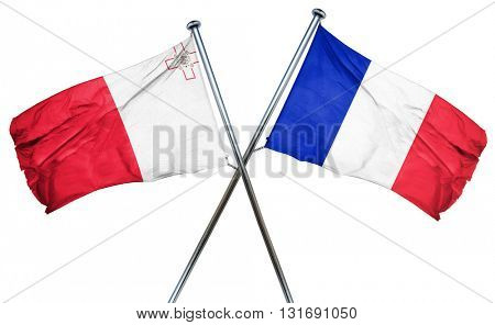 Malta flag  combined with france flag