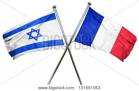 Israel flag  combined with france flag